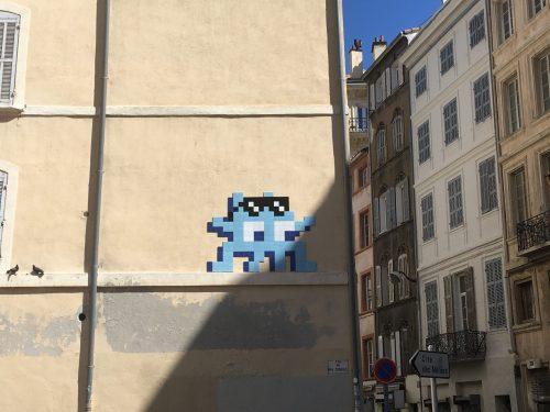 Space Invader-le panier
